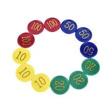 Новинка 160 шт Высокое качество печать для игровых жетонов Пластиковые монеты пластиковые покерные фишки с 4 золотыми большими цифрами