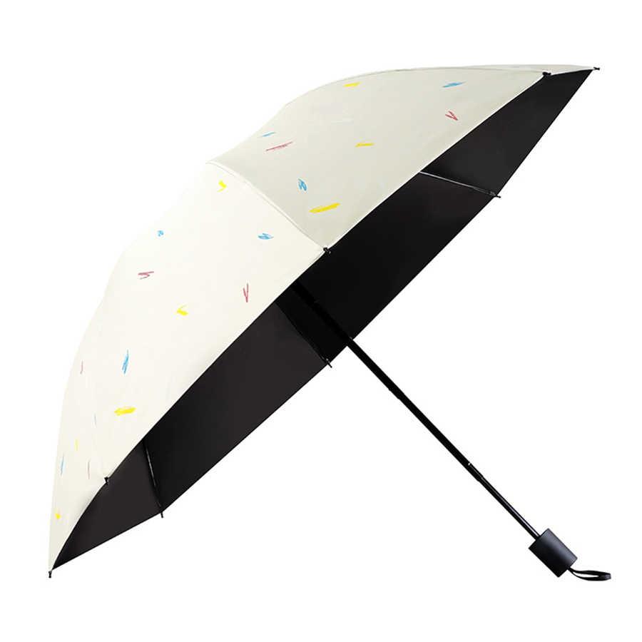 bb1e7bc128dc Folding Windproof Umbrella Rain Women Umbrela Parasol Ladies Pocket Small  Sun Umbrella Kids Paraplu Parachase Sun Shade 50KO054