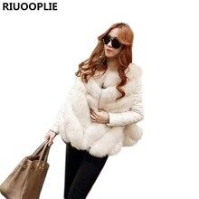 RIUOOPLIE Faux Fur Coat Women Warm Female Outerwear Elegant Winter Jacket Coat Hairy Party Overcoat(China)
