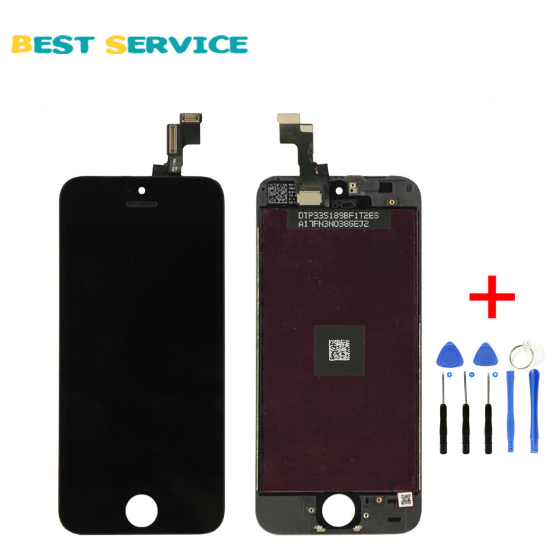CHN or US Warehouse LCD For iPhone 5S LCD Screen Display with Touch Screen Digitizer Assembly Black/White + Tools Free Shipping