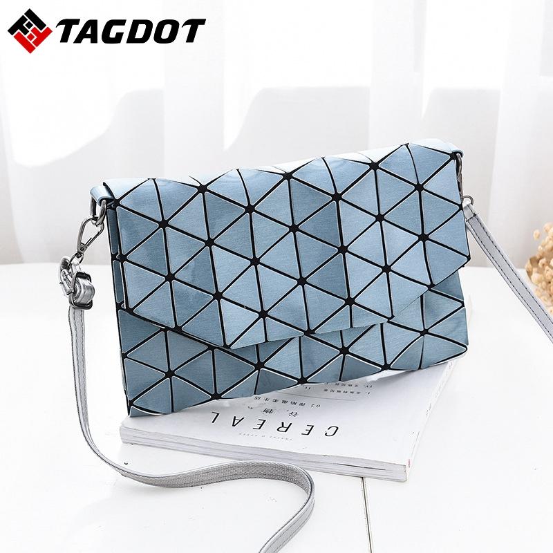 manera de las mujeres bao bao bolso espejo de diamante celosa bolsa de mensajero geometra pliega