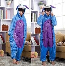 Eeyore Donkey Cartoon Costumes Cosplay Jumpsuit Costume For Children Kids Onesie Pajamas Clothing For Halloween Carnival