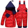 Casaco de inverno Da Menina do Menino Macacão Sets Vetement Enfant Treino Enxoval Recém-nascidos Macacão de Bebê Snowsuit Engrossar Roupa Dos Miúdos Terno