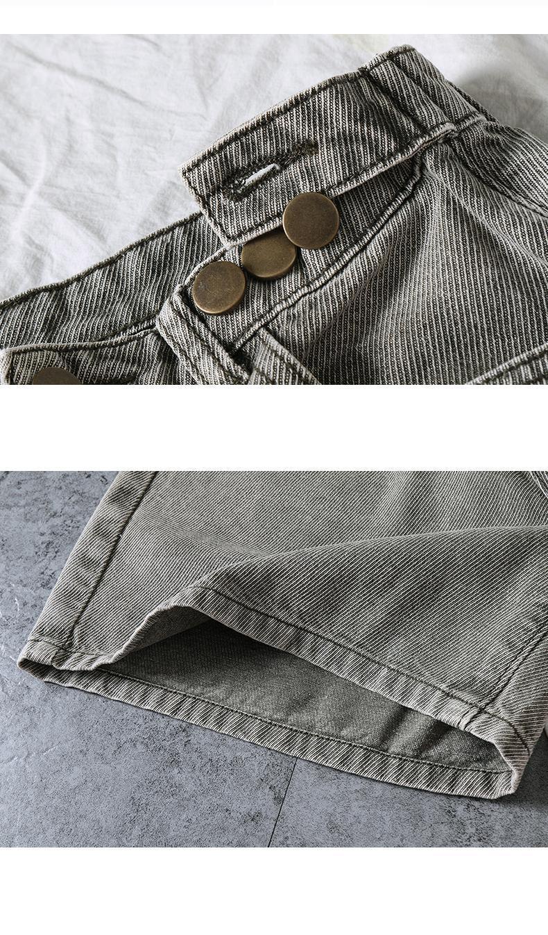 GUUZYUVIZ Casual Shorts Jeans Woman High Waist Denim Harem Short Femme Vintage Jean Short Women Summer Spodenki Damskie Mujer