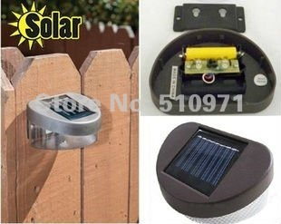 2 LED Stairway Mount Garden Cool Fence Outdoor Powered Solar Wall Light Lamp ,4pcs/lot