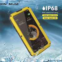 XIN MUM IP68 Waterproof Outdoor Sport Phone Case for iPhone 5 5S Se 6 6s 7 8 Plus X Shockproof Armor Mobile Phone Pouch Bag