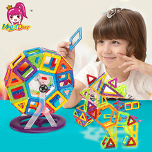 21-97pcs Kids Toys Educational Mini Magnetic Designer 3D DIY Models Construction Creative Enlighten Building Toy Gifts
