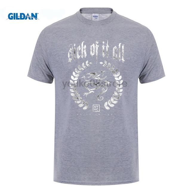 GILDAN Sick of It All Built To Last T-Shirt Men and Women NYHC Hardcore Punk Tee big Size S-XXXL