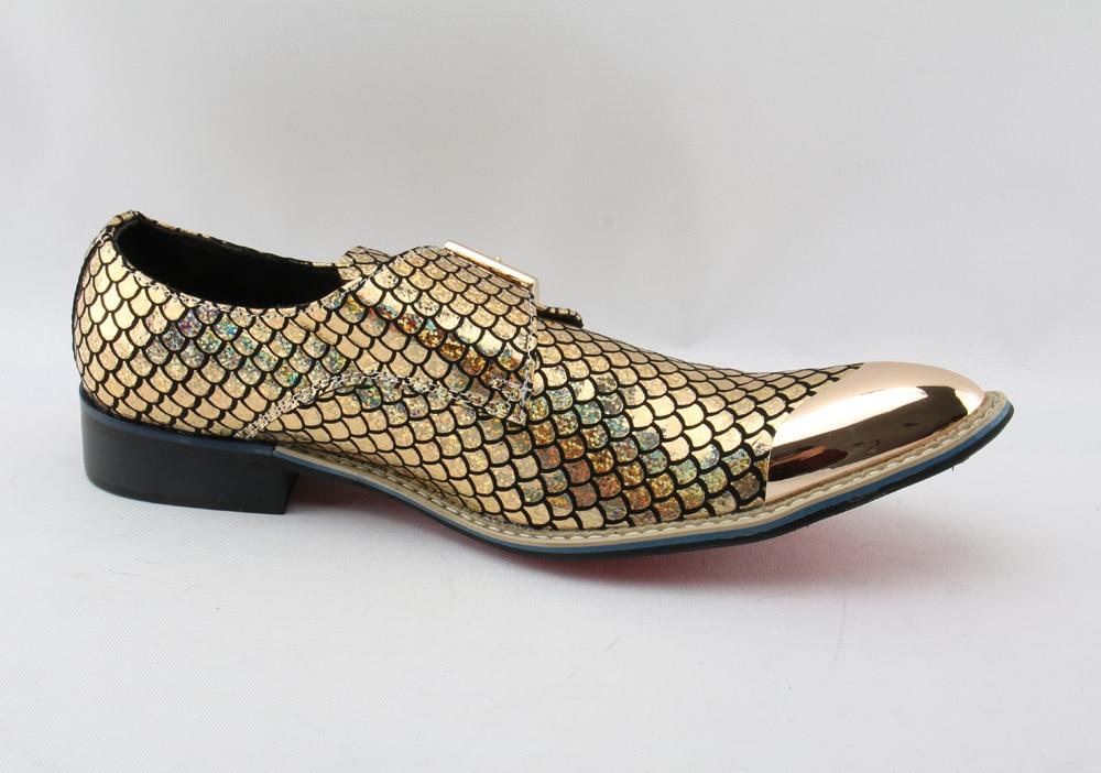 Nouveau Cuir Marque En Robe Partie Mariage De Mocassins Véritable Chaussures Luxe Hommes Italiennes Imprimer Bal Pour Or Formelle TF1lKJc