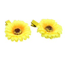 2Pcs/set Kids Hair Accessories Clips for Girls Knitted Sunflower Elastic Band Hairpins Baby Headwear hairpins