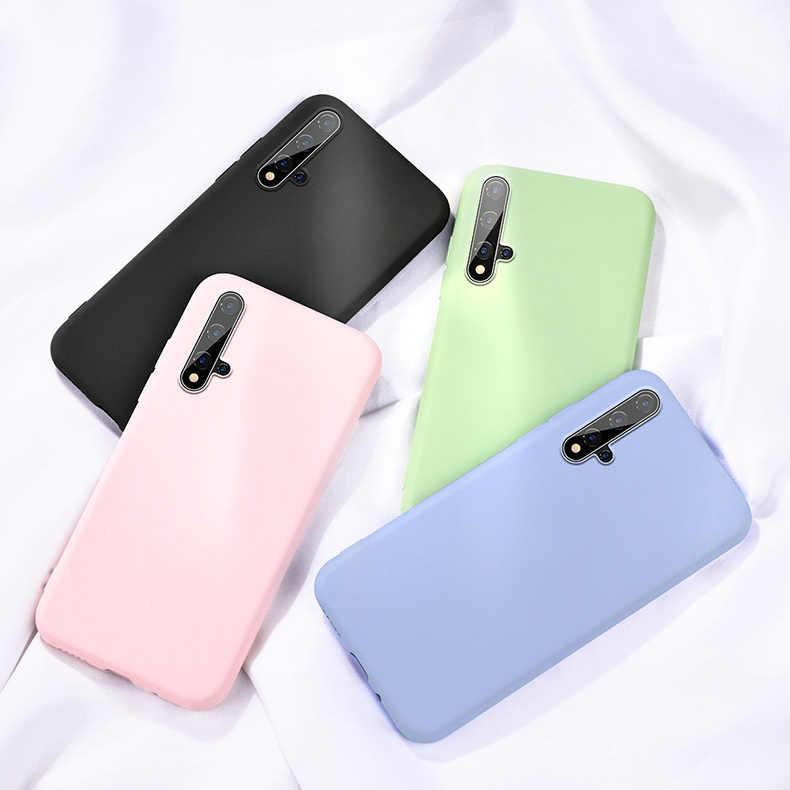 Para Huawei honor 20 Pro caso PLiquid fundas de silicona para honor 20 9x Pro caso cubierta honor 10 Lite P30 Pro líquido casos de silicona