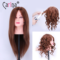 100 Human Hair Mannequin Heads 18 Black Hair Professional Styling Mannequin Head Hairdresser Practice Maniqui Head
