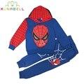 Человек-паук Детская Одежда Устанавливает Мода Человек-Паук Косплей Костюм Дети город потерянных детей Пижамы Наборы Лето Весна Малышей Детские Костюмы