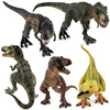 5 Styles High Quality Big Classic Dinosaur Tyrannosaurus Model Toy Plastic Play Toys Action And Figures