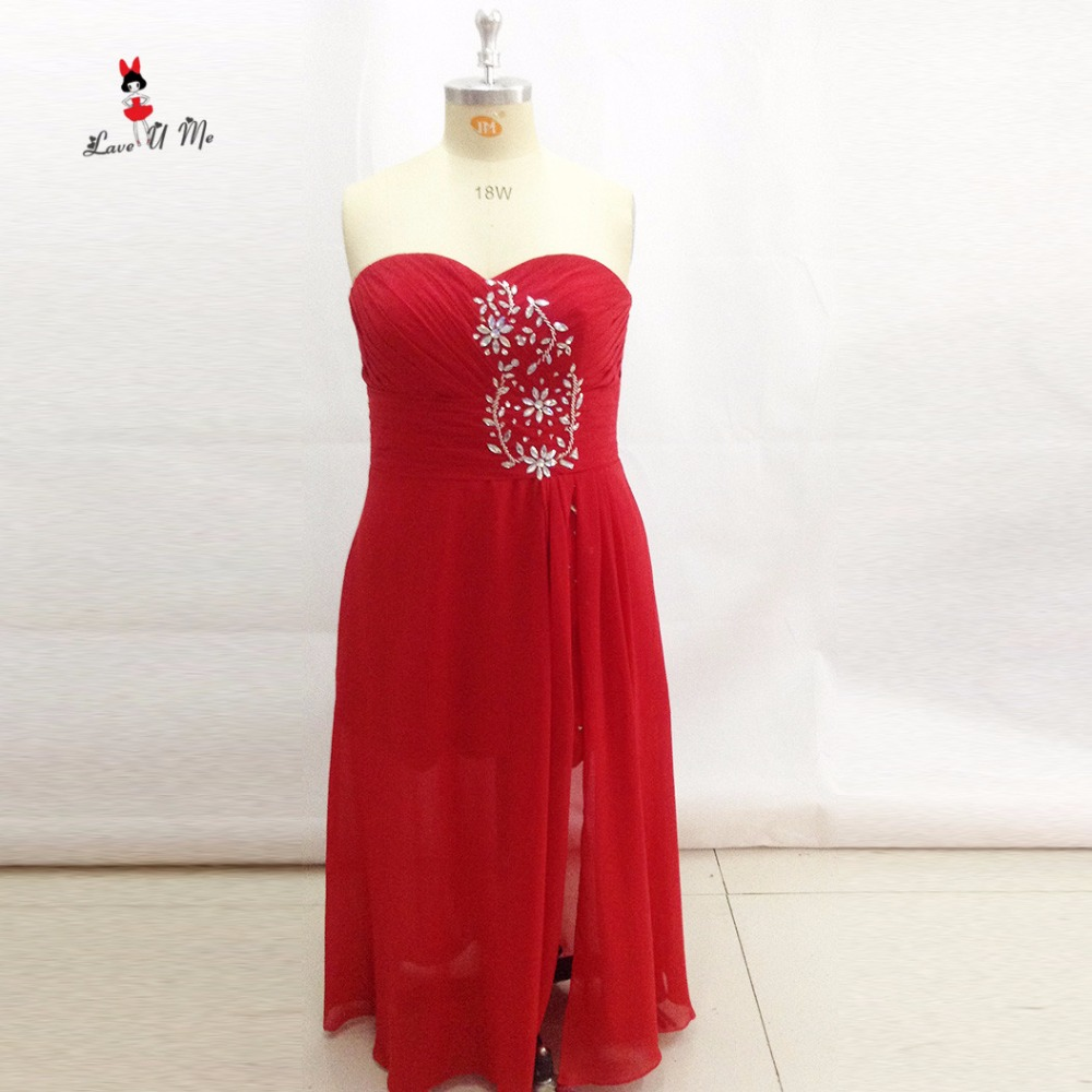 Online Shop Red Plus Size Prom Dresses 2017 Long Evening Gowns For