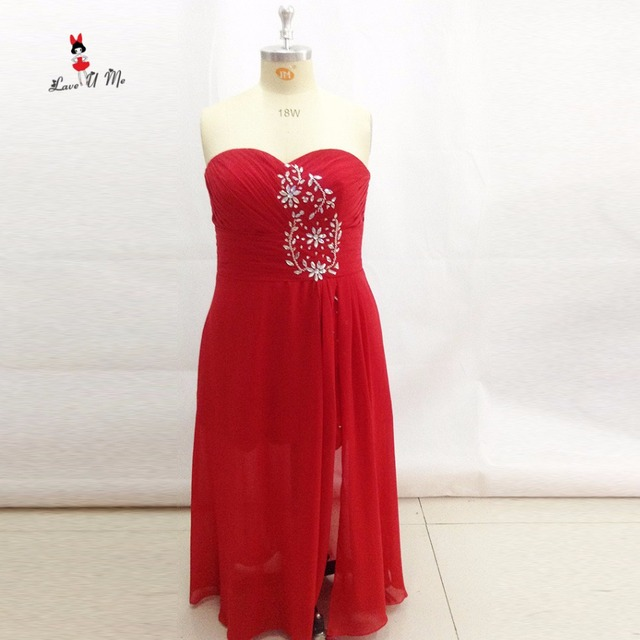 Red Plus Size Prom Dresses 2017 Long Evening Gowns For Women Pageant