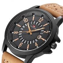 купить Mens Watch Top Brand Luxury Waterproof Man Quartz Watch Leather Sport Watch Fashion Male Military Wrist Watches Clock по цене 844.38 рублей