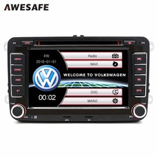 "Awesafe 7 ""2 DIN автомобильный DVD Радио плеер для Volkswagen VW Гольф 6 Touran Passat B7 Sharan Lavida Поло Tiguan GPS bluetooth-плеер"