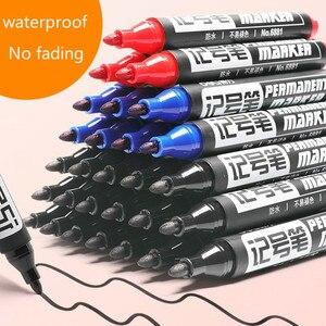 Deli Перманентный маркер большой емкости Черный масляной маркер крючок линия ручка шариковая постерная ручка водонепроницаемые быстросохну...