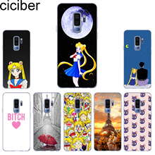 ciciber Sailor Moon Phone Case for Samsung Galaxy S10 S10+ S10e Soft TPU Back Cover S9 S8 S7 S6 S5 Edge Plus S9+