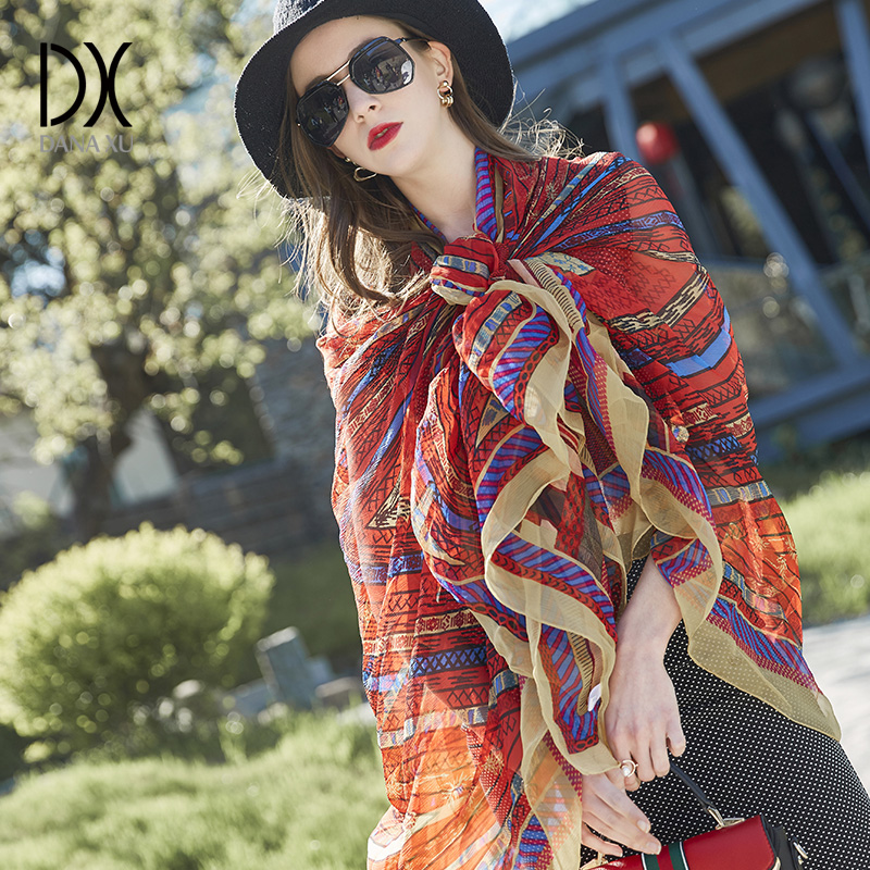 2018 New Luxury Brand Silk Bandana Beach Blankets Soft Scarf Warm Square Plaid Shawl Womens Scarves Hijab Foulard Women Shawl