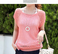 new arrival 2016 ladies' loose thin cutout batwing sleeve air conditioning blouse pullover sweater for spring/summer/autumn