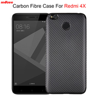 For Xiaomi Redmi 4X Case Carbon Fiber Pattern Soft High Quality Ultrathin Luxury Back Cover Redmi4X Xiomi Coque Anti-knock