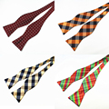 Brand New 100% Silk Self Bow ties For Men Luxury Plain Tie Bowties Butterflies Noeud Papillon Business Wedding Party