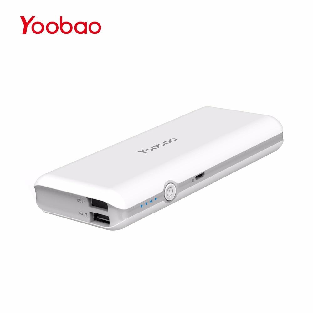 bilder für Yoobao M10Pro Portable Handy-ladegerät 10000 mAh Dual USB Ausgang Backup Battery Pack 18650 Ladegerät Bank für iPhone 7 Samsung Tablet