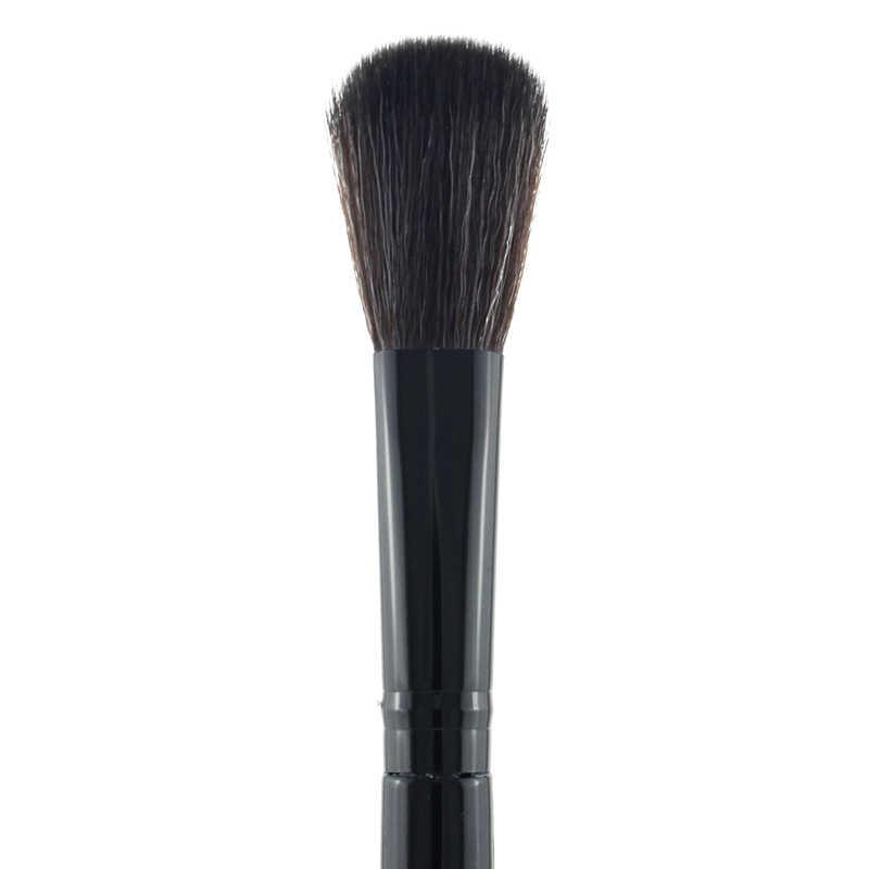 Jweijiao Hitam Warna Wol Kambing Rambut Longgar Bubuk Sikat Profesional Foundation Blush Kualitas Tinggi Kuas Makeup & Alat 1 Pc