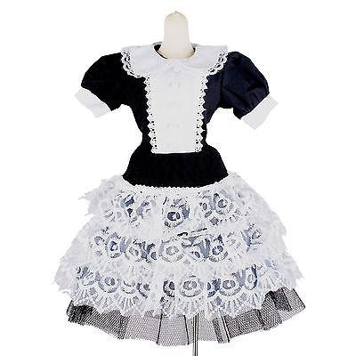 ୧ʕ ʔ୨ wamami  124  Dress Suit 2pc 1 3 BJD Dollfie Black White - a748 308ca422e