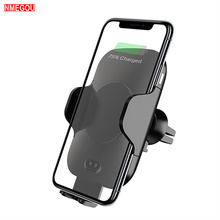 Wireless Car Charger Air Vent Fast Charger QC 3.0 Quick Charge Phone Holder for IPhone X XR XS Max Samsung Galaxy S8 S9 Note 8 9