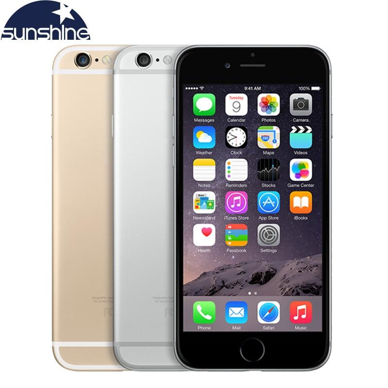 Ξεκλείδωτη Γνήσια Apple iPhone 6 Plus Κινητό τηλέφωνο LTE 5.'5 IPS 1GB RAM 16/64 / 128GB iPhone6 iOS Fingerorint Smartphone