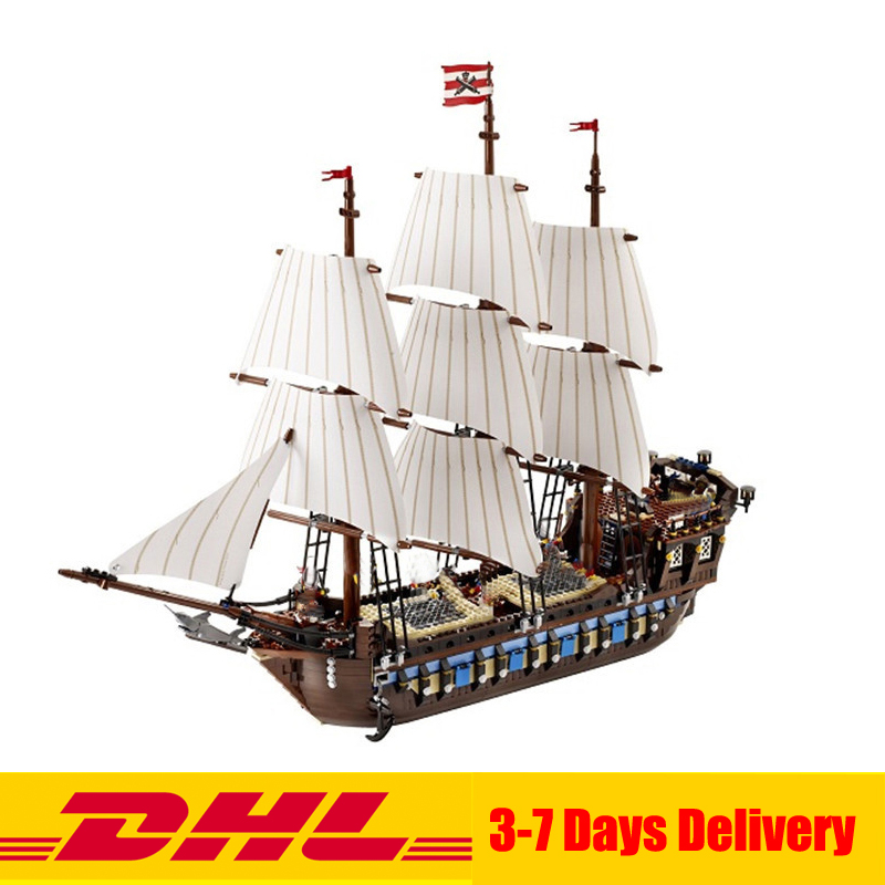 In Stock LEPIN 22001 Pirates Series The Imperial Flagship Model Building Blocks Set Pirate Ship Toys For children 10210 lepin 22001 imperial warships 16006 black pearl ship model building blocks for children pirates series toys clone 10210 4184