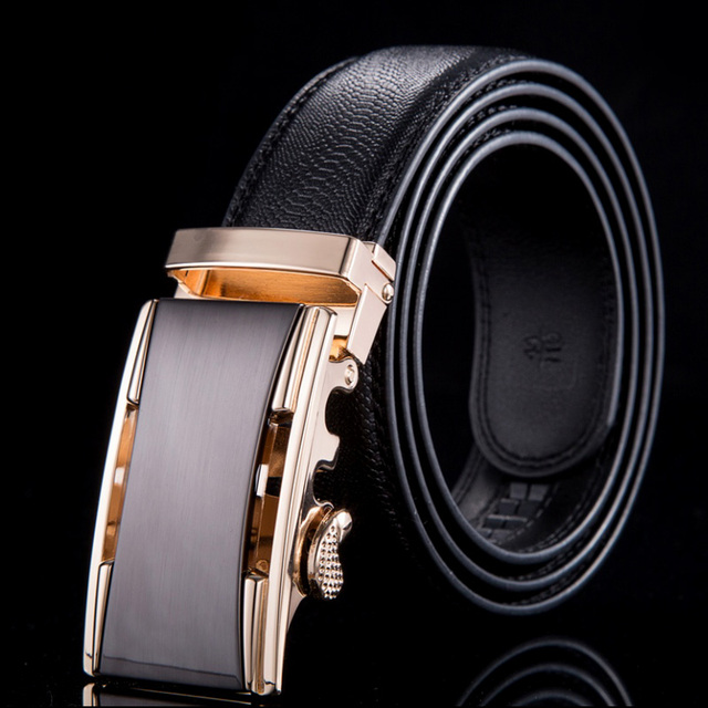 2015 New designer belts men high quality genuine leather belts for men automatic gold buckle crocodile pattern WN004