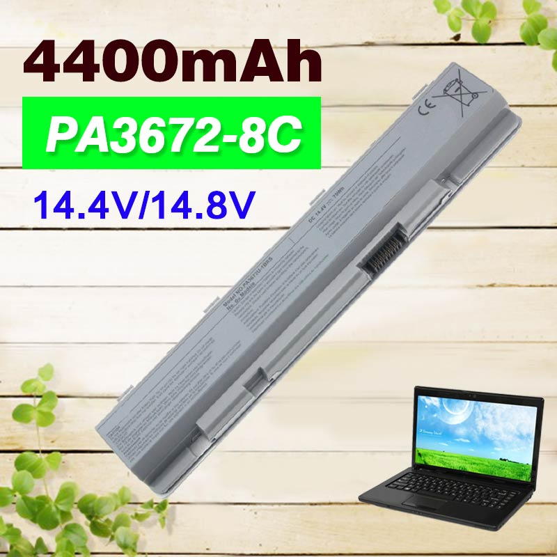 14.4V 4400mAh Rechargeable Laptop Battery pa3672 for Toshiba Satellite PA3672U-1BRS E100 E105 E105-S1402 E105-S1602 E105-S180214.4V 4400mAh Rechargeable Laptop Battery pa3672 for Toshiba Satellite PA3672U-1BRS E100 E105 E105-S1402 E105-S1602 E105-S1802