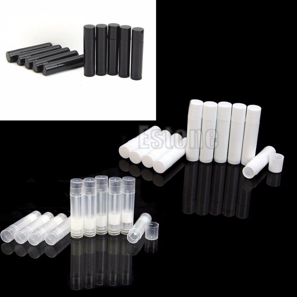 50 pz 5 ml Cosmetic Empty Chapstick Lip Gloss Tubo Del Rossetto Balsamo + Tappi Contenitore