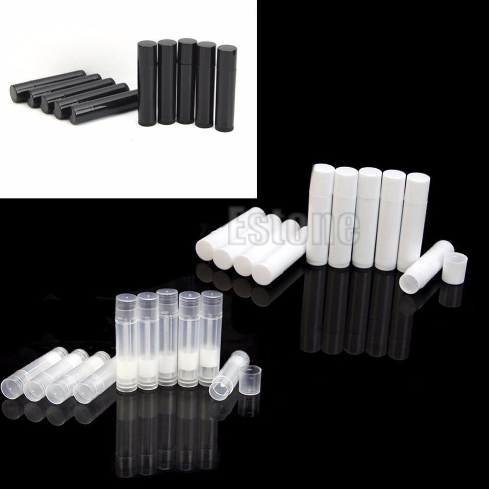 50 stücke 5 ml Kosmetische Leere Chapstick Lip Gloss Lippenstift Balm Rohr + Caps Container