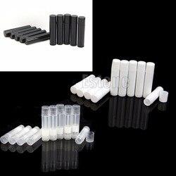 50PCS 5ML Cosmetic Empty Chapstick Lip Gloss Lipstick Balm Tube + Caps Container