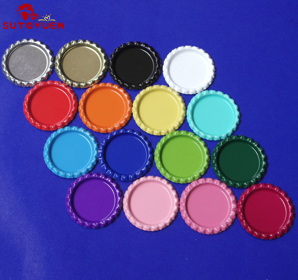 wholesale 1''  Flattened Both Side Colored Bottle caps Crown Bottlecap For Crafts & Jewelry Without Holes-in DIY Craft Supplies from Home & Garden    3