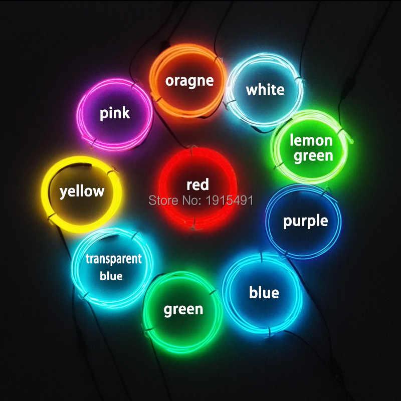 Новый тип 3,2 мм 1 метр 10 цветов электролюминесцентный EL провод светодиодный неоновый праздничный свет использование для Автомобильная накладка сувениры + Driver Драйвер