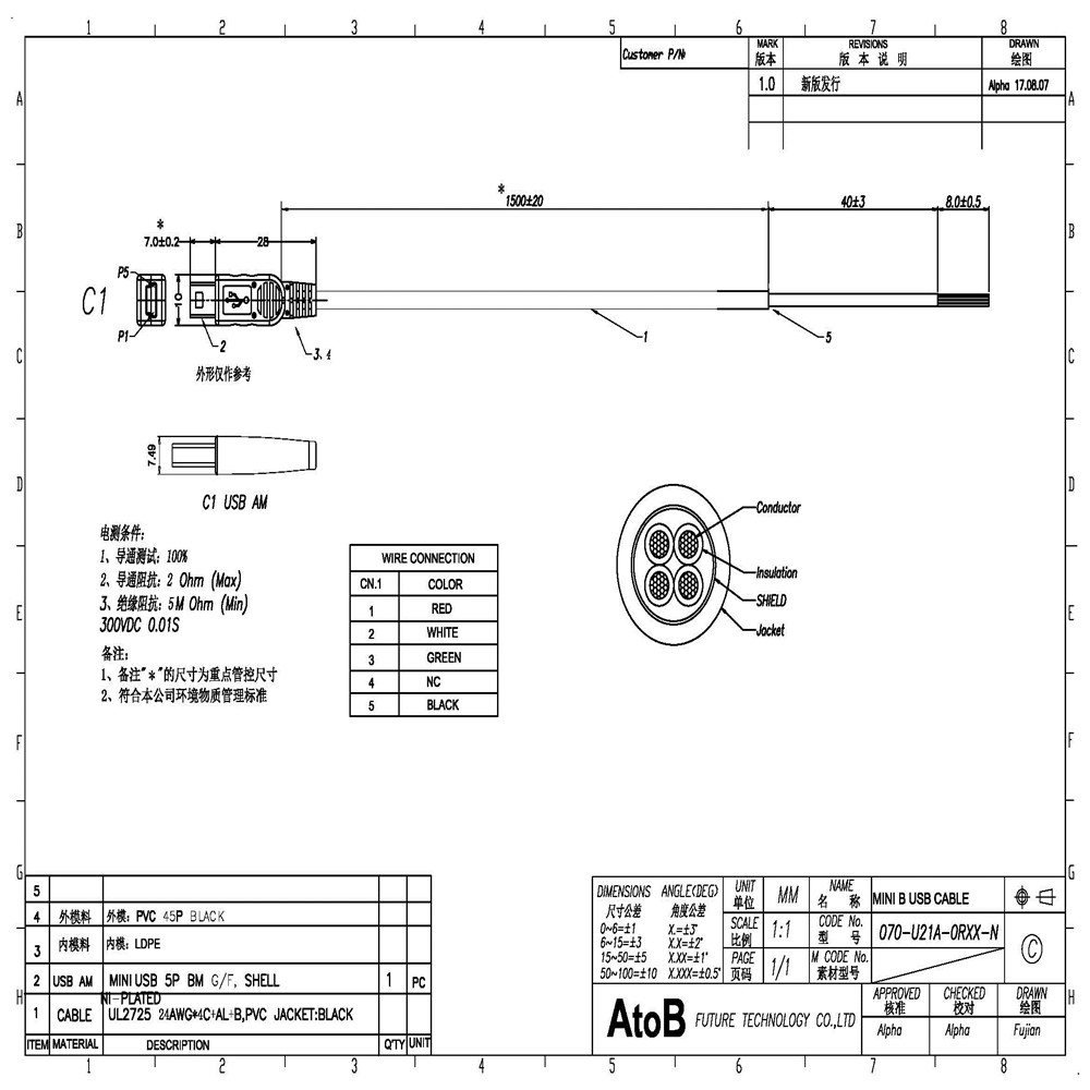 Atob Mini Usb Cable 5pin To Open 15m No Tube Needed 5 Welding Wiring Diagram 20170809141627