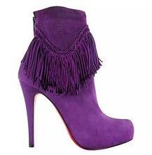 Botas de mujer Zapatos de Mujer 2016 Barato de La Borla de Tacones Delgados Altos Ladies Boot Botas Mujer Botas Para Mujer de Invierno Botas de Moda Sexy