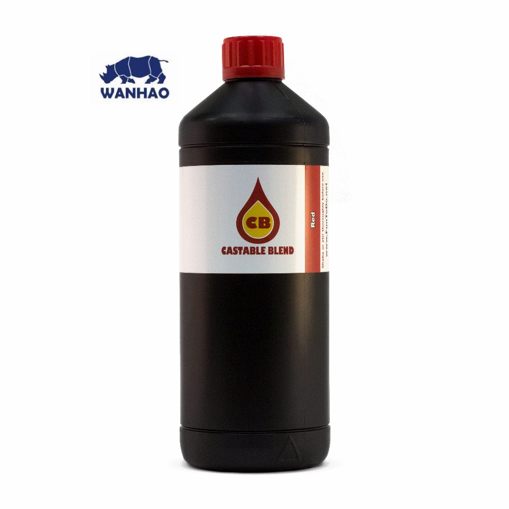 3d printers Wanhao photopolymer resin for D7 FunToDo Castable Blend 1kg RED (FUNTODO CB)