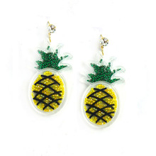 Hip Hop Acrylic Club Jewelry Accessories Fashion Personality Fruit Pineapple Punk Women Earrings bohomia beads drop earrings