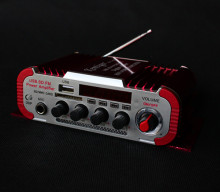 Red 12V 5A Microphone power amplifier DC USB reverberation high power memory card