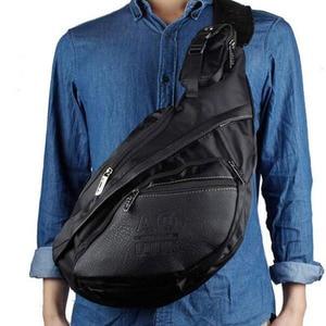 Image 5 - Men Canvas Sling Chest Day Back Pack Bag Travel Big Capacity Retro Cross Body Single Rucksack Shoulder Messenger Triangle Bag