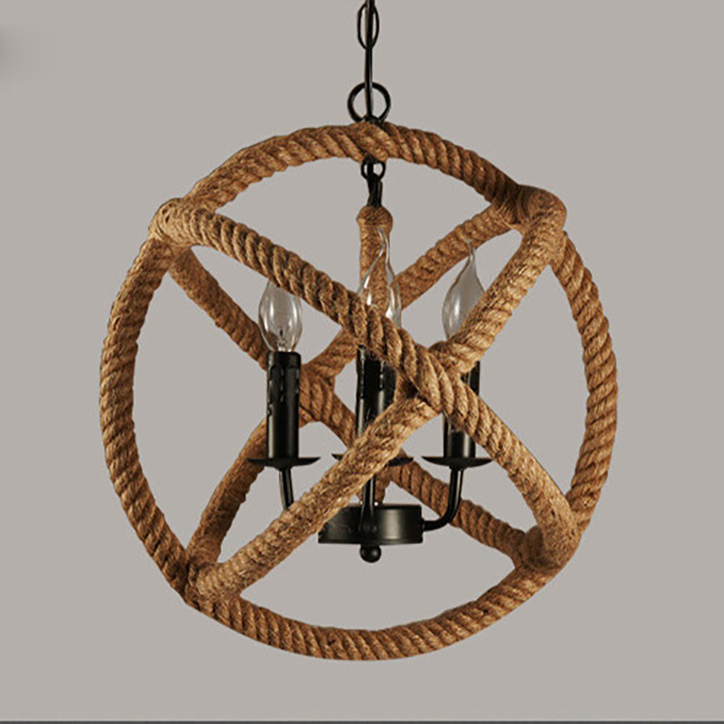 Loft Style Nordic Retro Creative Clothing Coffee Hall Rope Chandelier Industrial Lamp Replicate Restoration Hardware Light In Chandeliers From Lights