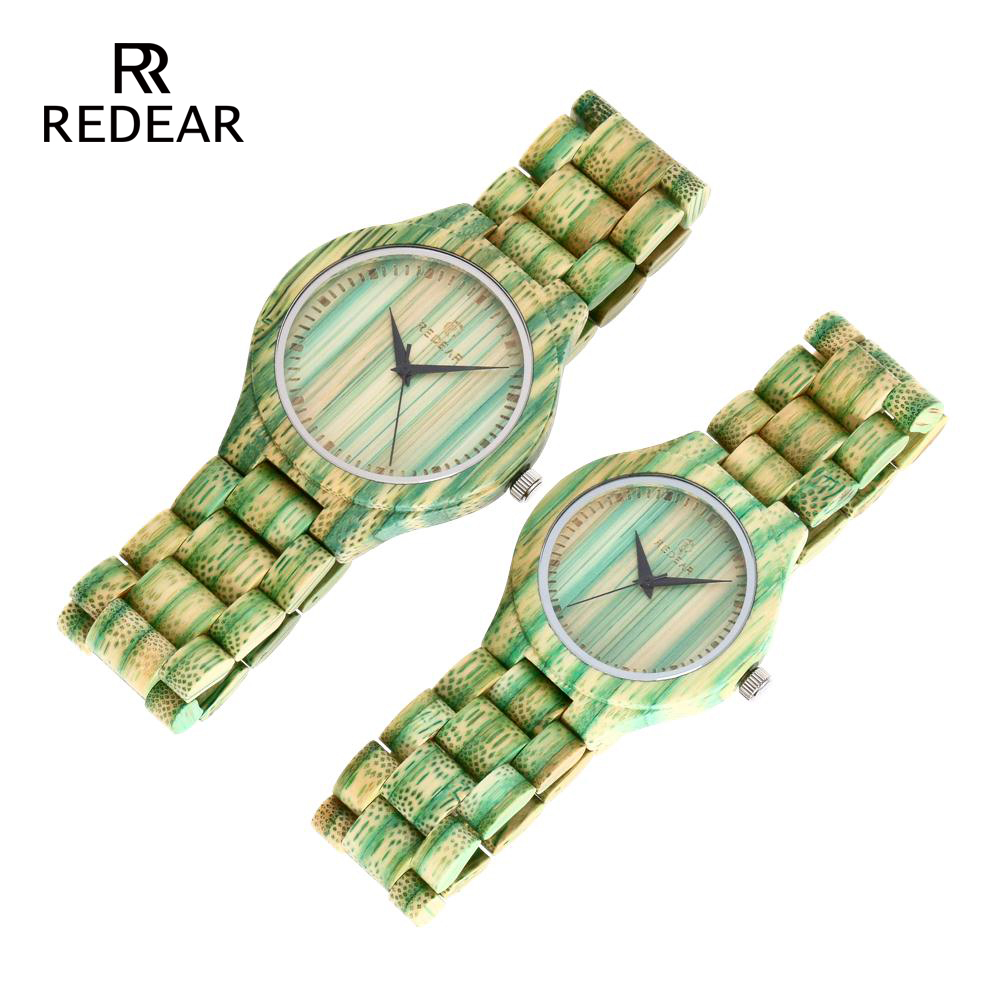 REDEAR Lover's Watches Green Bamboo Wood Watch Bamboo Band för - Damklockor - Foto 4