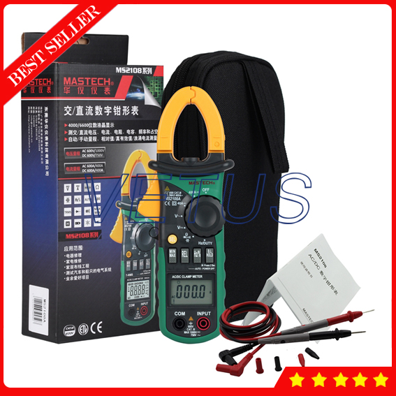Mastech MS2108A Auto Range Digital AC DC Clamp Meter Price цена